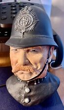 Bossons Victorian Bobby Chalkware Head Policeman Wall Hanging England 1988 Issue