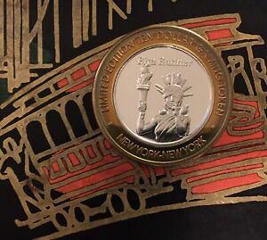 "New York New York ""Rita Rudner"" $10 Dollar Casino Token .999 Fine Silver Strike"