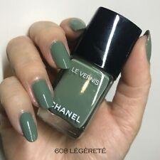 CHANEL Le Vernis Longwear Green Nail Polish 608 Legerete 13ml No Box - With Cap