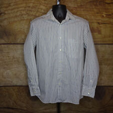 Lacoste Mens Size 40 Medium Long Sleeve Button Front Shirt Striped Collared
