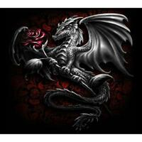 5D DIY Full Drill Diamond Painting Dragon Cross Stitch Embroidery Kit Craft