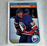 1982-83 O-Pee-Chee Islanders Card #200 Butch Goring! 4 Stanley Cups