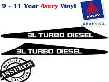 3L TURBO DIESEL Decal Sicker For Nissan GU Patrol 99-07 2 FIN Bonnet Scoop
