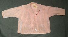Pink Vintage Sequined Knit Twin Sweater Set Small