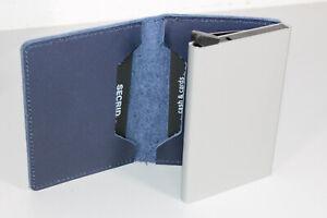 Secrid Slimwallet Karten Wallet Geldbörse RFID blau Leder (Retourenware) (S187)
