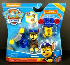 Paw Patrol Action Pack-Dress Up Chase Figure 2 Clip on Backpacks NEW!