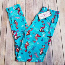 Buskins Leggings Under the Sea Mermaid One Size 3/4-13/14 Super Soft OS