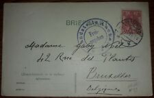 Zensur Karte Auslandstelle Aachen Amsterdam Niederlande Deutsches Reich 1915 (28