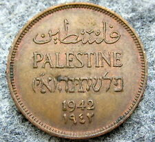 PALESTINE 1942 ONE MIL, BRONZE HIGH GRADE