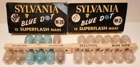 2 Vintage Sylvania Superflash Blue Dot Bulbs-NEW/OLD Stock  M2 & M2b - 22 bulbs