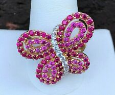 10K GOLD COLORED CZ BUTTERFLY RING SIZE 11.25
