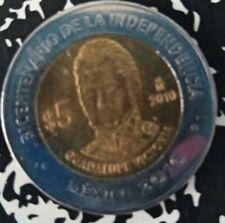 MEXICO 5 PESOS coin bicentenario de Independencia Guadalupe Victoria 2010