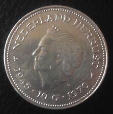 1945-1970 Netherlands Silver 10 Gulden Guilders Coin