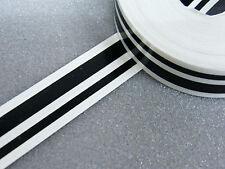 Zierstreifen 12 mm doppelt schwarz glänzend Zierlinie Dekorstreifen Warnstreifen