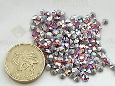 36 X Swarovski 1988 / 30pp Rose AB silver-foiled # 1100 chatons