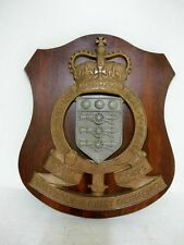 AUSTRALIAN MILITARY HEADQUARTERS PLAQUE, ARMY ORDINANCE C1960'S JARRAH SHIELD