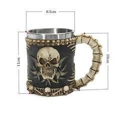 Skull Mug Tankard Striking Warrior Viking Drinking Ware Cup Beer Gothic Helmet