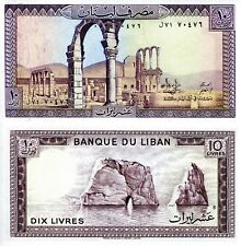 LEBANON 10 Livres Banknote World Paper Money UNC Currency Pick p-63f Anjar ruins