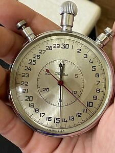 """huge chronograph stopwatch""""SLAVA""""made in the USSR,in original packaging.Rare."""