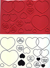 unmounted rubber stamps  Lots of Hearts collection 15 images
