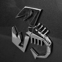 Logo Decal Silver 3D Metal Auto Decor Badge Emblem Scorpion Car Sticker