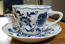 BLUE DANUBE TEACUP AND SAUCER   Never Been Sold Before NEW JAPAN