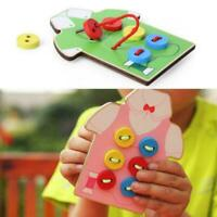 1XKids Montessori Educational Toys Sew On Buttons Beads Lacing Board Wooden Toys