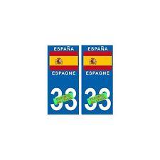Espagne choix autocollant plaque arrondis