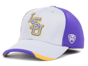 LSU Tigers Men's Top of the World NCAA Grizzly One-Fit Flex Hat Cap