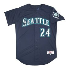 Ken Griffey Jr. Seattle Mariners Authentic On-Field Alternate Navy Jersey 48