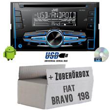 Fiat Bravo 198 - JVC  2DIN Autoradio Radio - Einbauset Auto PKW KFZ MP3 CD 12V