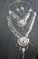 Long Coin Chain Necklace Pendant Kuchi Gypsy Hippy Festival Fashion Jewelry