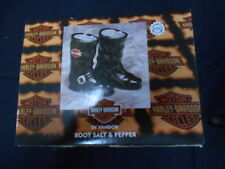 Harley Davidson BOOTS Salt And Pepper Shakers New In Box