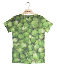 Batch1 Christmas Brussels Sprouts All Over Print Xmas Kids Festive T-shirt 7-8 Years