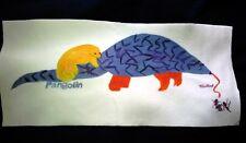 "Pangolin (Endangered Animal) Anteater Fleece Fabric Quilt Panel 8.5""H x 19""L"