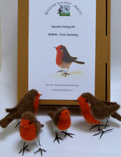 Needle Felting Kit For 1 Robin, Garden Bird, Christmas, RSPB, Gift
