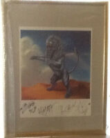 "THE ROLLING STONES ""Bridges To Babylon"" handsigned Litho RARE numbered framed"