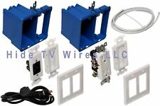 Hide TV WIres Complete Kit with Power Cable (for TV Wall) FAST FREE SHIPMENT