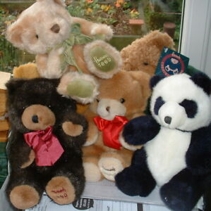 COLLECTION OF CUTE VINTAGE 8 inch 1980s & 1990s HARRODS TEDDY BEARS – YOU CHOOSE