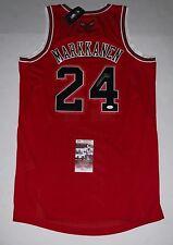 Lauri Markkanen signed Red Chicago Bulls Adidas Authentic jersey JSA
