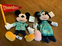 Disney Parks Park Life 2020 Set of 2 Mickey Mouse & Minnie Mouse Plush New NWT