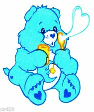 "3"" CARE BEARS BEDTIME  BEAR CHARACTER NOVELTY FABRIC APPLIQUE IRON ON"