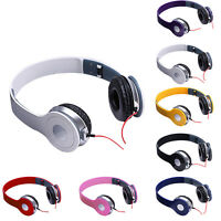 3.5MM DJ STYLE FOLDABLE HEADSET STEREO HEADPHONES EARPHONE OVER EAR FOR MP3 MP4