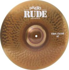 "Paiste 1121216 Rude Series 16"" Thin Crash Cymbal With Integrated Bell Character"
