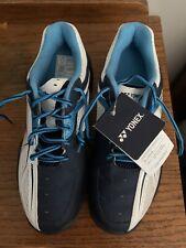New listing Yonex Power Cushion 35 Junior White Sky Blue Badminton Shoes