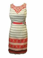 Bravissimo Embroidered Ribbon Detail Dress in Paprika/Grey Colour (16A)