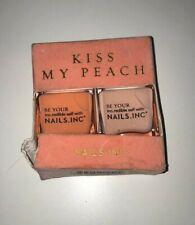 Nails Inc Kiss My Peach Nail Polish Duo New Box Damaged Free P&P UK Seller