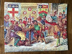 "WOODEN JIGSAW PUZZLE MADE BY VICTORY - ""THE FLEET"" COMPLETE - IN GOOD CONDITION"