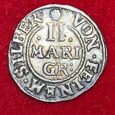 #1816 - RARE - ALLEMAGNE Brunswick 2 mariengroschen 1655 RARE QUALITE ++ FACTURE