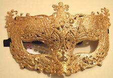 NEW Gold glitter filigree Masquerade Mask Eye Gothic halloween